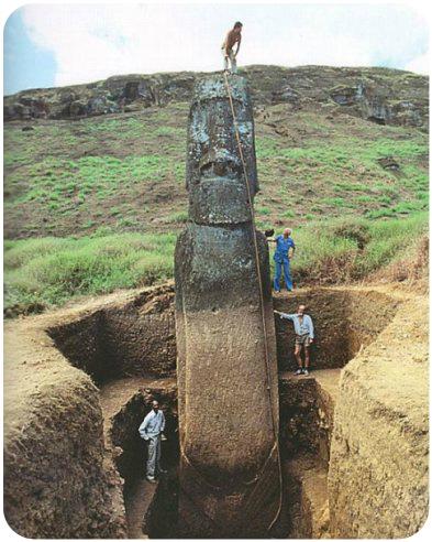 para los expertos de cuarto mil Moai-v